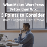 What Makes WordPress Better than Wix: 5 Points to Consider (from a Beginner's Point of View)