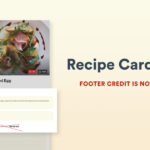 Recipe Card Blocks Free Footer Link Removed After Feedback