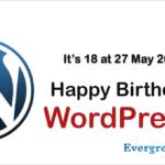 Happy Birthday WordPress! It's 18…