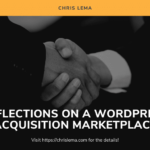 Reflections on a WordPress Acquisition Marketplace