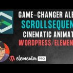 Cinematic Animation with Elementor and WordPress